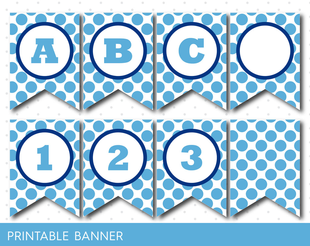 blue polka dot banner blue striped banner full alphabet birthday