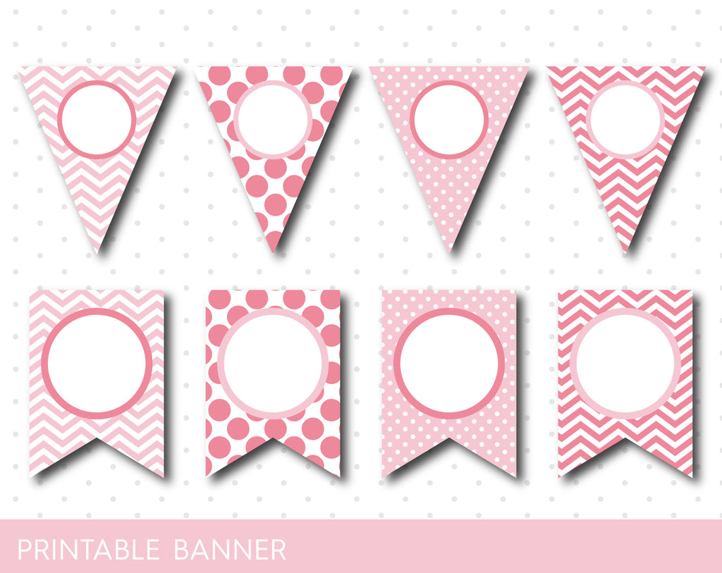 Printable Pink Banner Pink Birthday And Baby Shower
