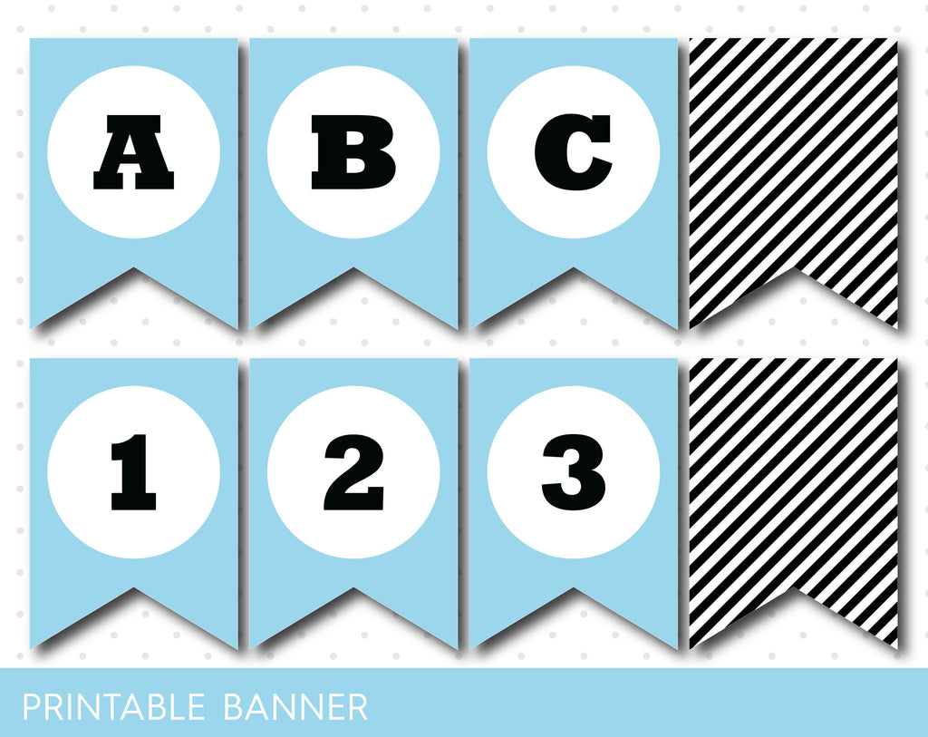 Blue and black striped printable banner with full alphabet and blue and black striped printable banner with full alphabet and numbers pb 258 biocorpaavc Image collections