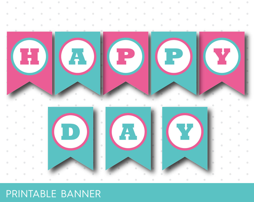 printable happy birthday banner letters