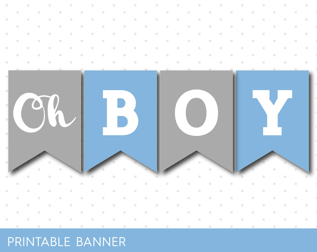 blue and grey its a boy banner blue baby boy banner pb