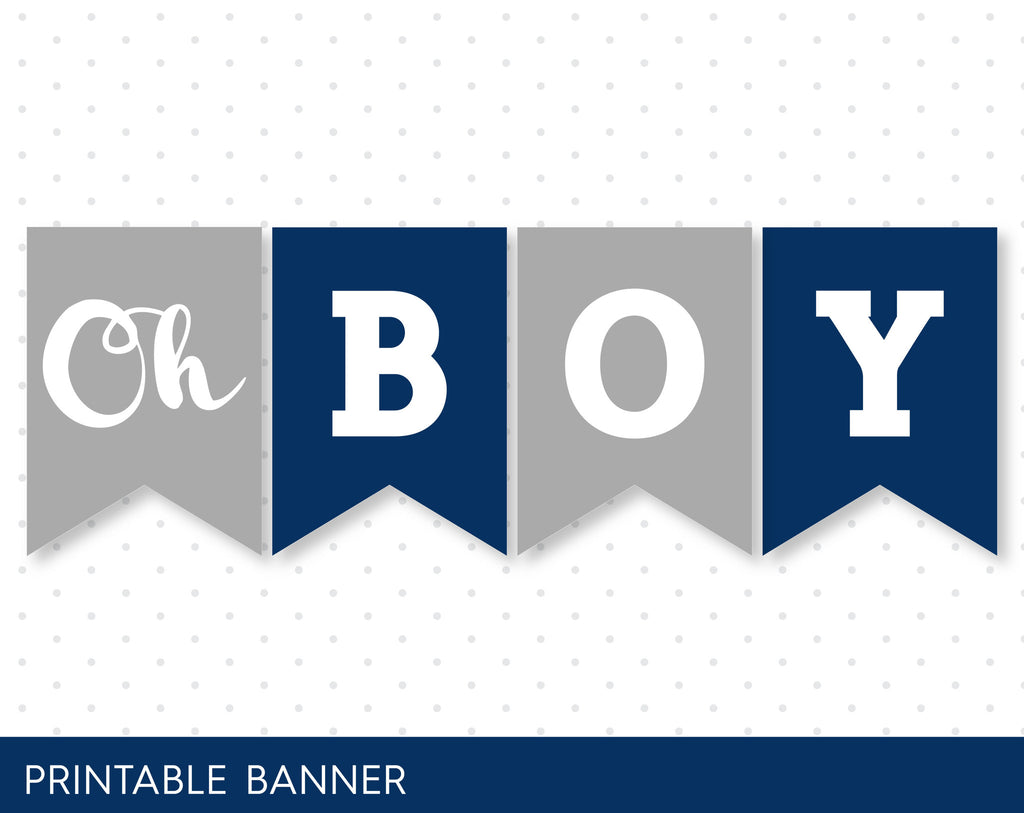 ... It´s A Boy Baby Shower Banner In Navy Blue And Grey, PB 59 ...