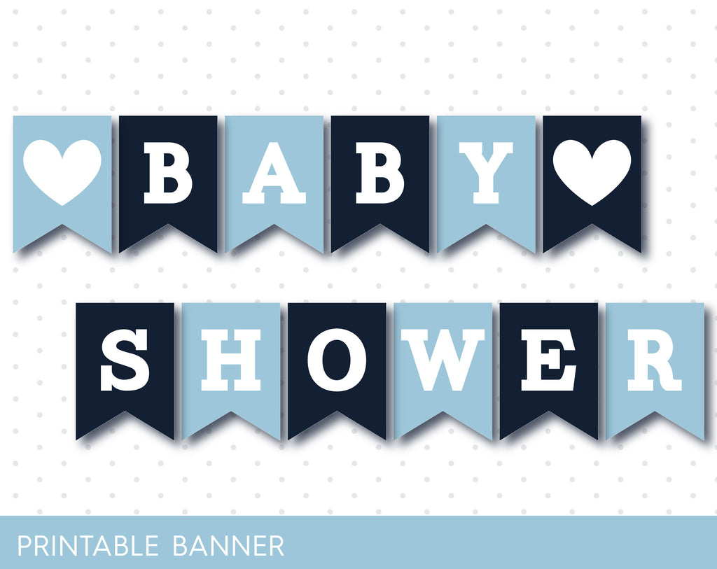 baby shower letters navy blue baby shower banner printable banner with 20541 | JS Digital Paper PB 66 46 1024x1024