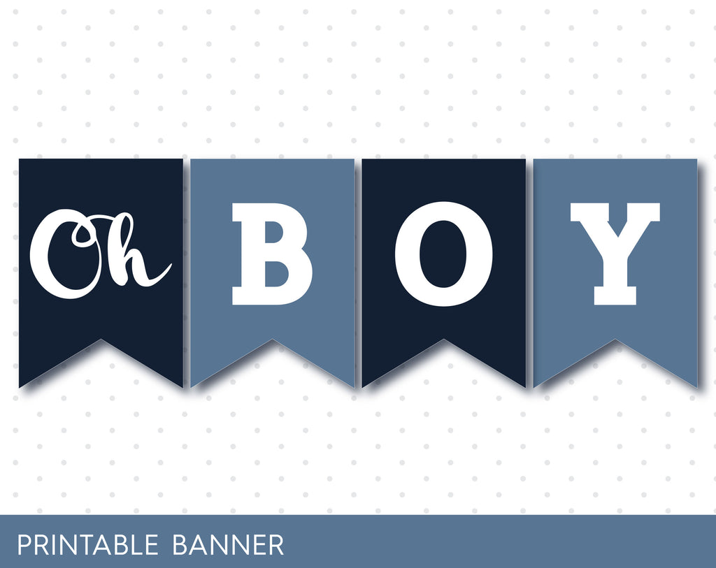 jeans blue and dark navy blue banner oh baby banner printable