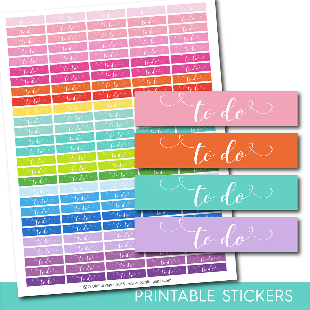 To do planner stickers, To do word stickers, Hand drawn stickers, STI-1064