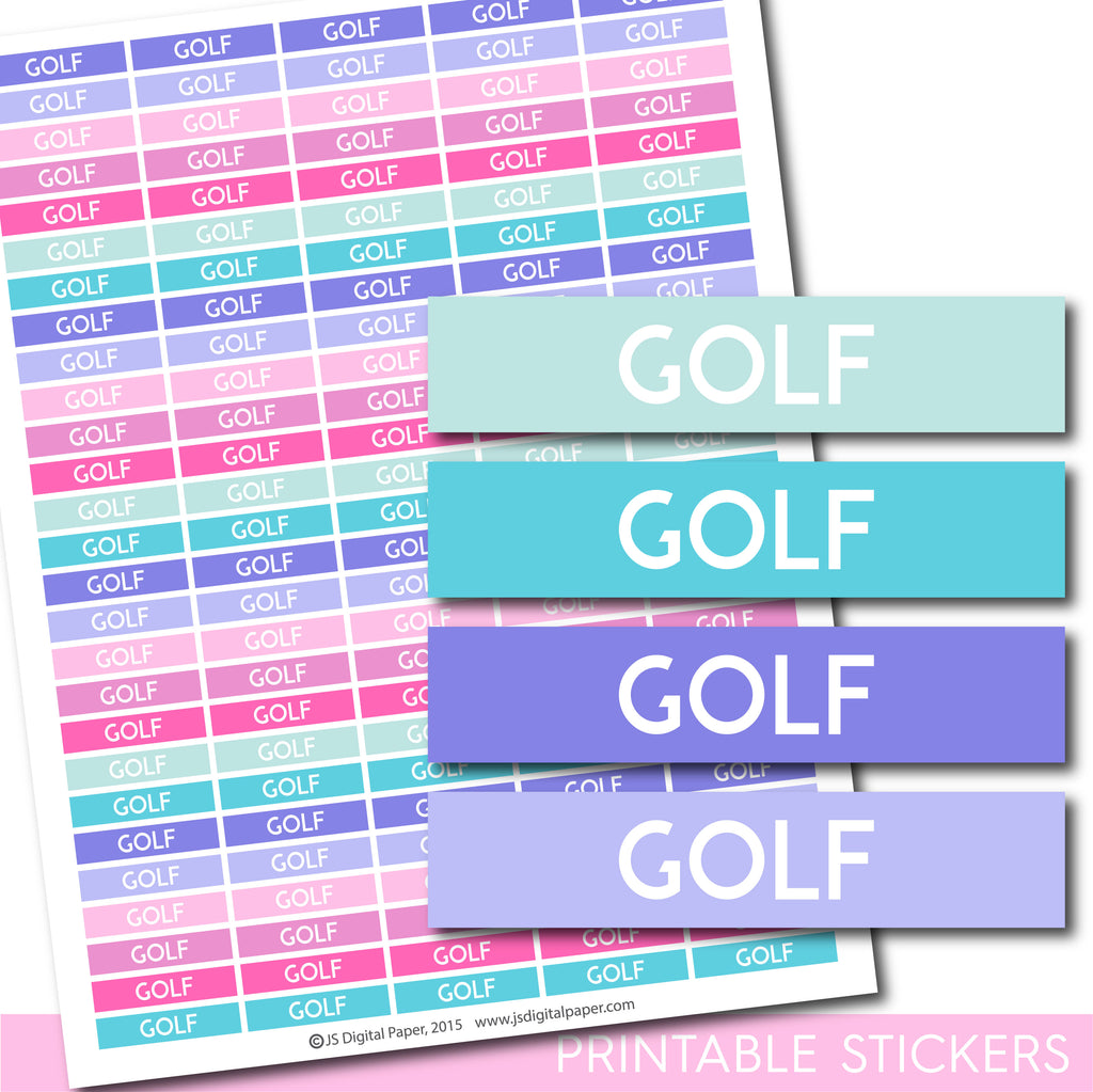 Golf Erin Condren planner stickers, Golf Happy Planner stickers, Golf ECLP stickers, STI-1291