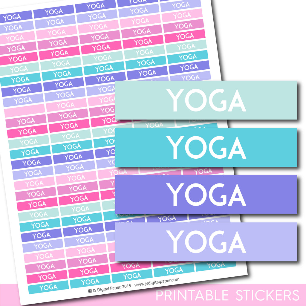 Yoga Erin Condren planner stickers, Yoga Happy Planner stickers, Yoga ECLP stickers, STI-1310