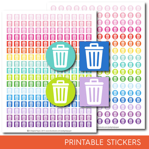 Trash stickers, Garbage stickers, Recycle stickers, STI-142