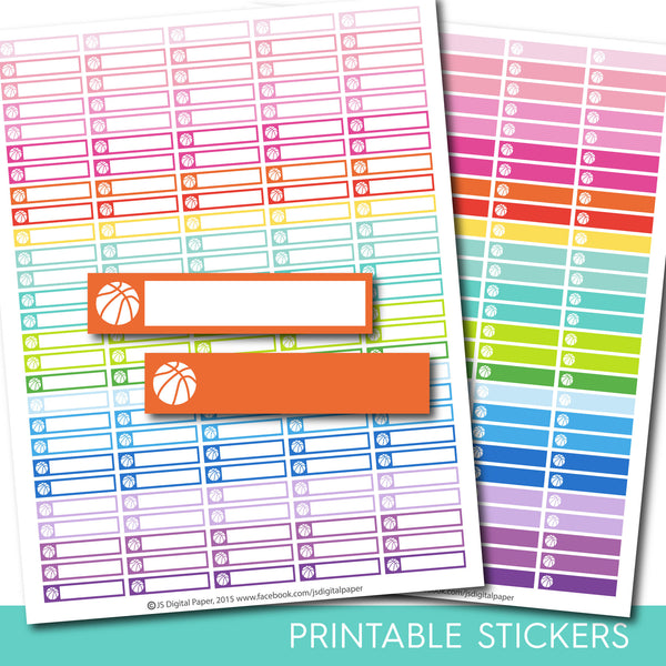 Basketball stickers, Basketball planner stickers, Basketball printable stickers, Training stickers, Basket ball, Fitness stickers, STI-178