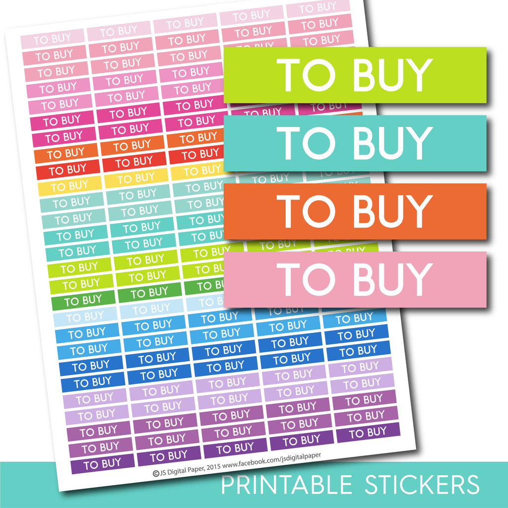 To Buy header stickers, To Buy planner stickers, To Buy printable stickers, To Buy stickers, Header stickers Planner header stickers STI-189
