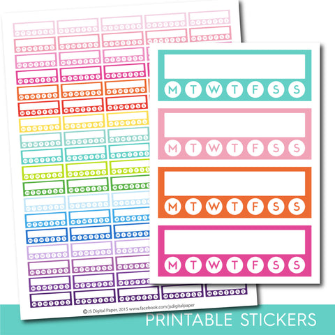 Habit tracker stickers, Habit stickers, Habit tracker planner stickers, Habit printable stickers, Fitness stickers, Health stickers, STI-245