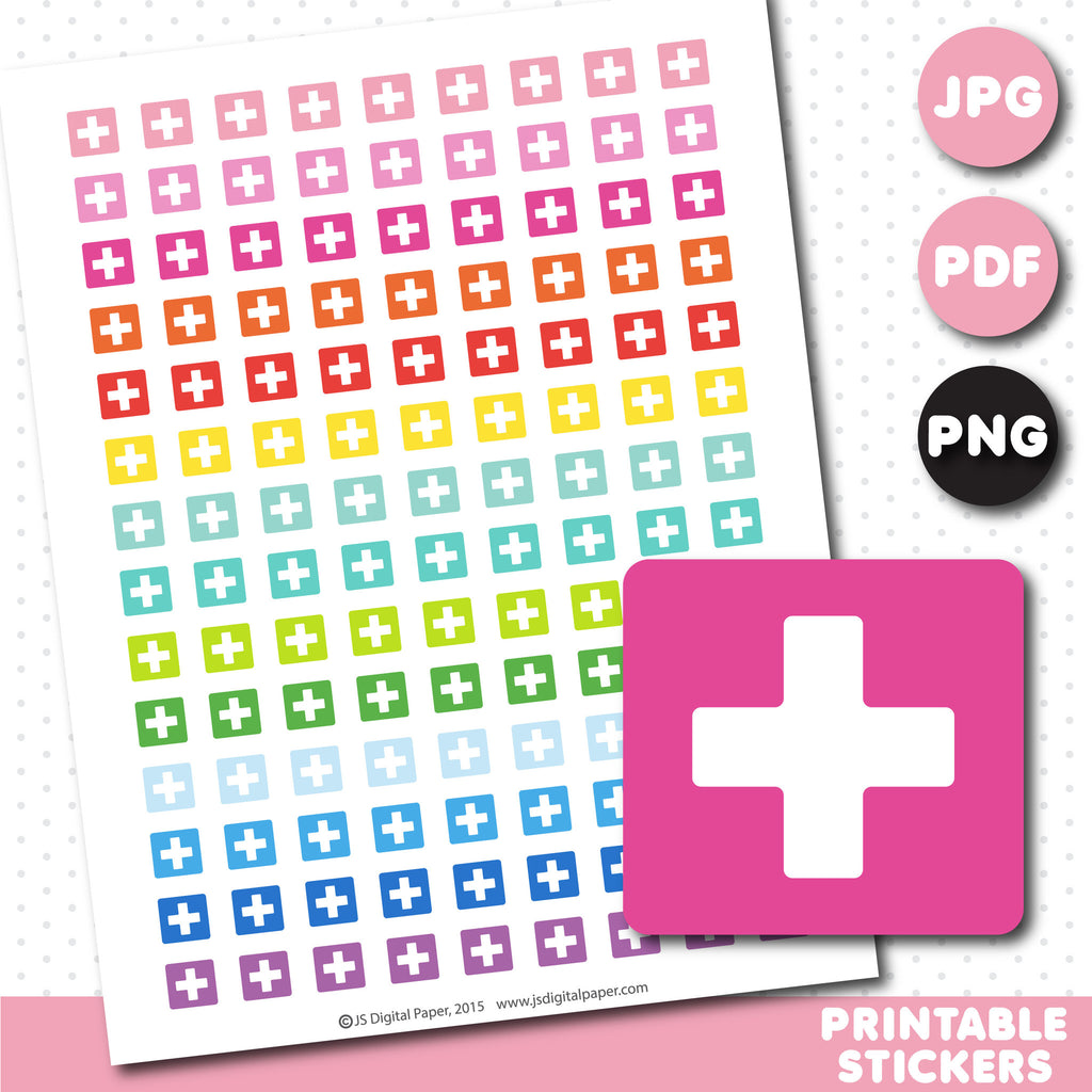 Doctor printable planner stickers, STI-651