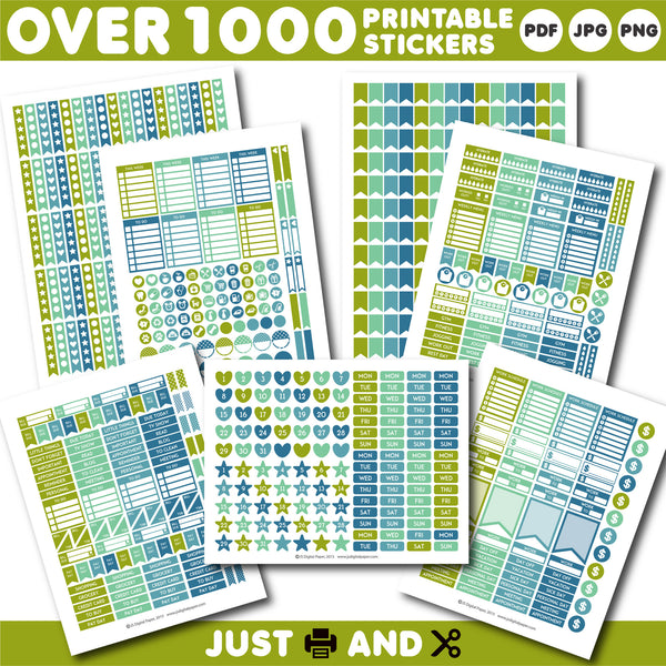 Erin Condren planner stickers, ECPL stickers, Horizontal stickers, Vertical stickers,