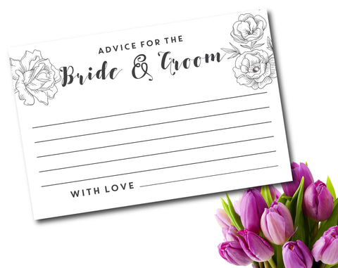 Advice for the bride and groom with flowers, WE-03