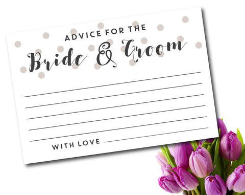 Advice for the bride and groom with polka dots, WE-04