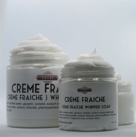 Creme Fraiche Whipped Soap 4 oz