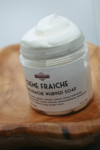 Creme Fraiche Whipped Soap 8 oz
