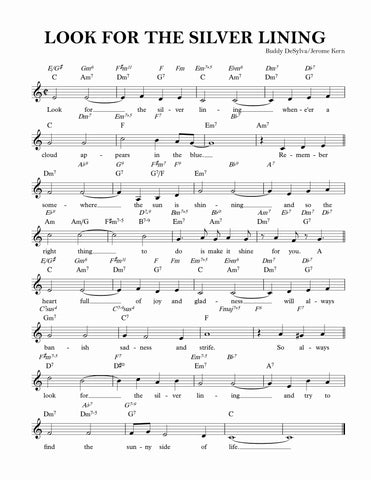 """Look for the Silver Lining"" sheet music"