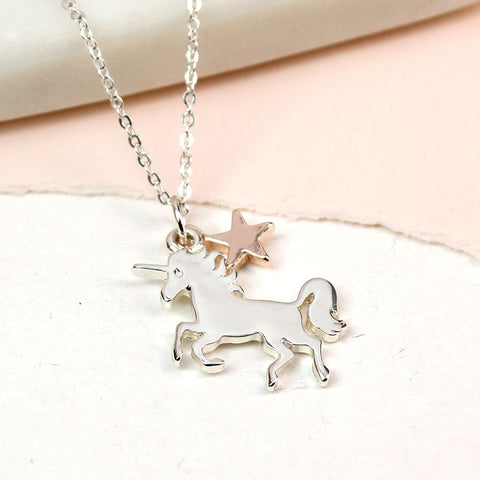Silver Plated Unicorn Necklace