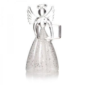 Glass Angel T-Light Holder
