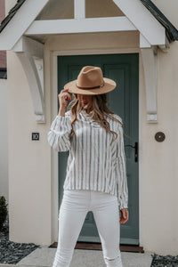 Light Summer Striped Shirt - Ecru