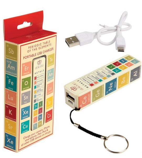 Periodic Table Portable USB Charger