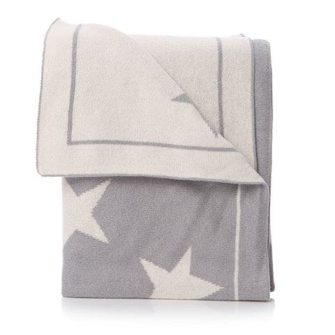 Grey Star Baby Blanket