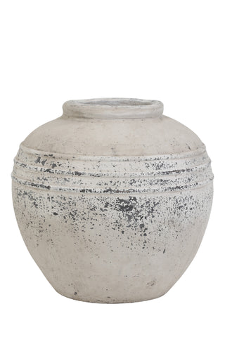 Stone Pot, Antique Grey - Large