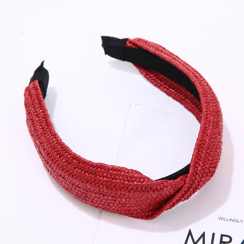 Plaited Headband - Red