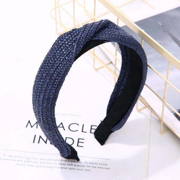 Plaited Headband - Navy