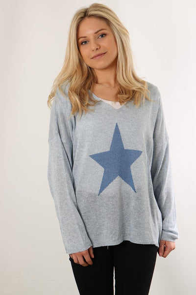 Cotton Jumper With Star Motif - Various Colours