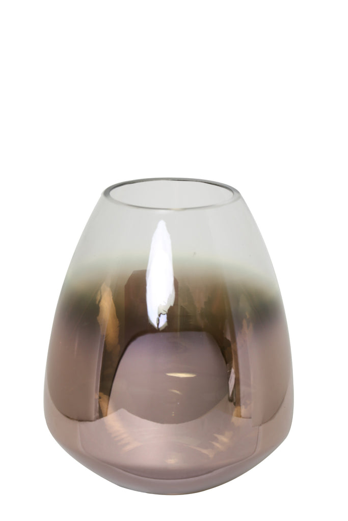 Glass Hurricane Lantern, Copper