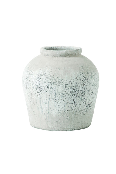 Stone Pot, Antique Grey
