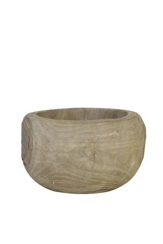 Wooden Pot, Grey Vigan