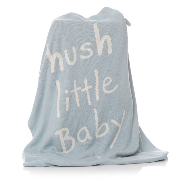 Hush Little Baby Blanket - Grey, Pink or Blue