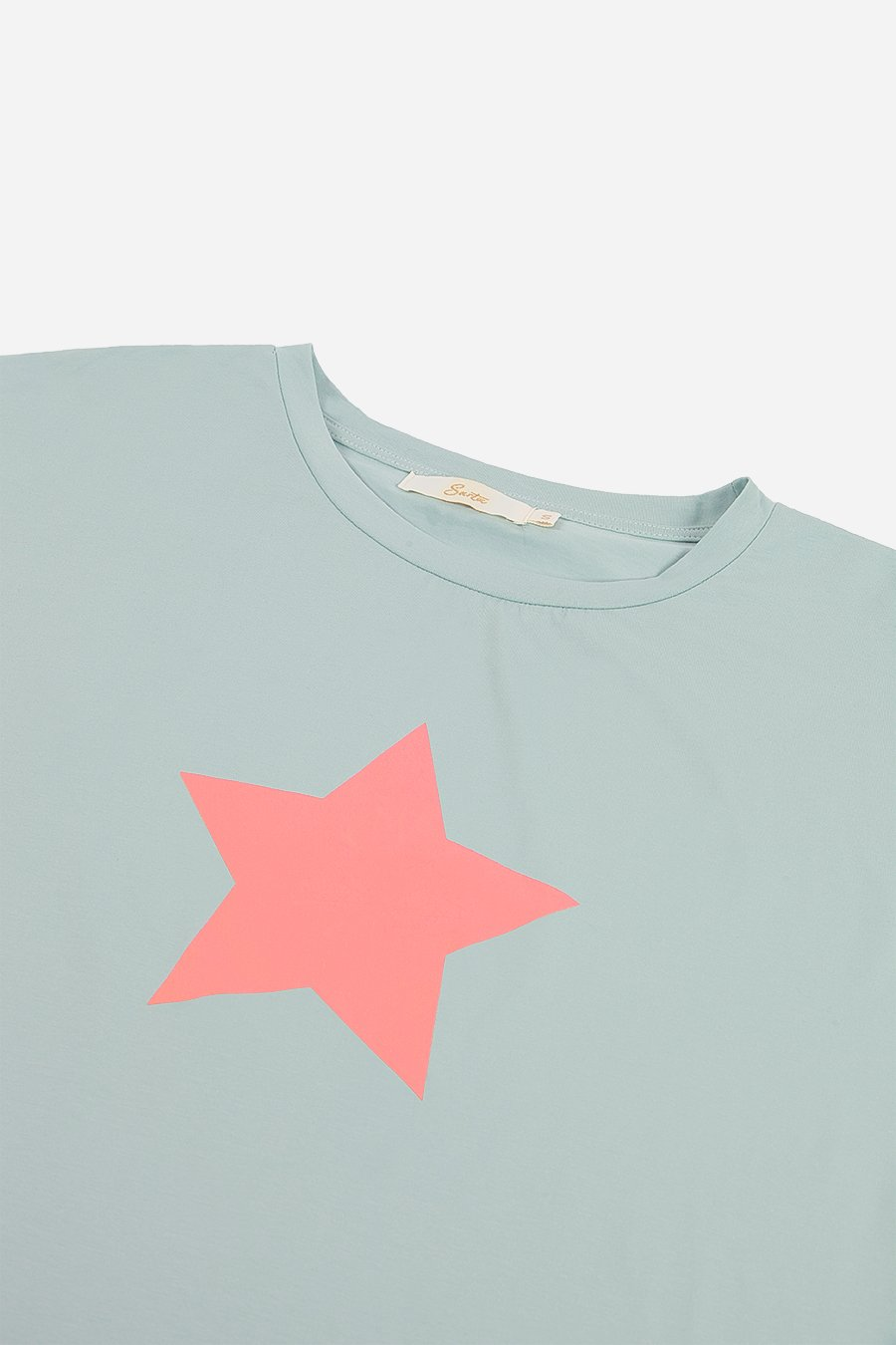 Pink Star T-Shirt - Sage Green