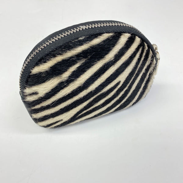 Zebra Print Leather Purse