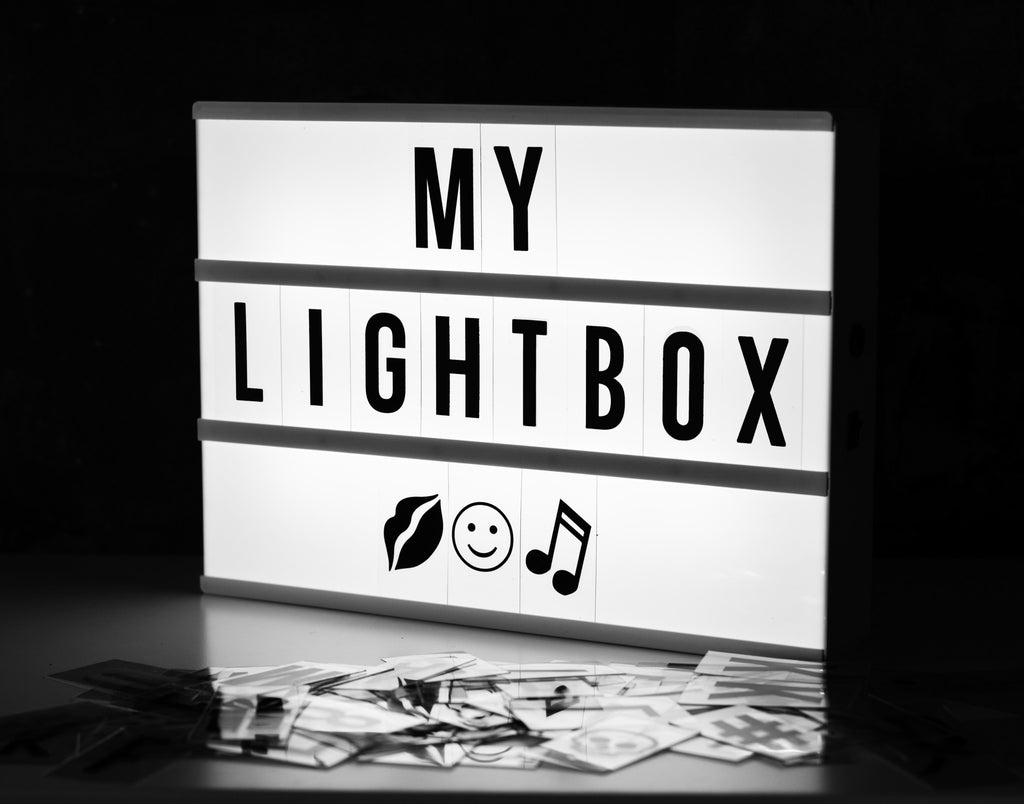 A4 Light Box, Black and White