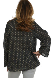Black Metallic Tunic