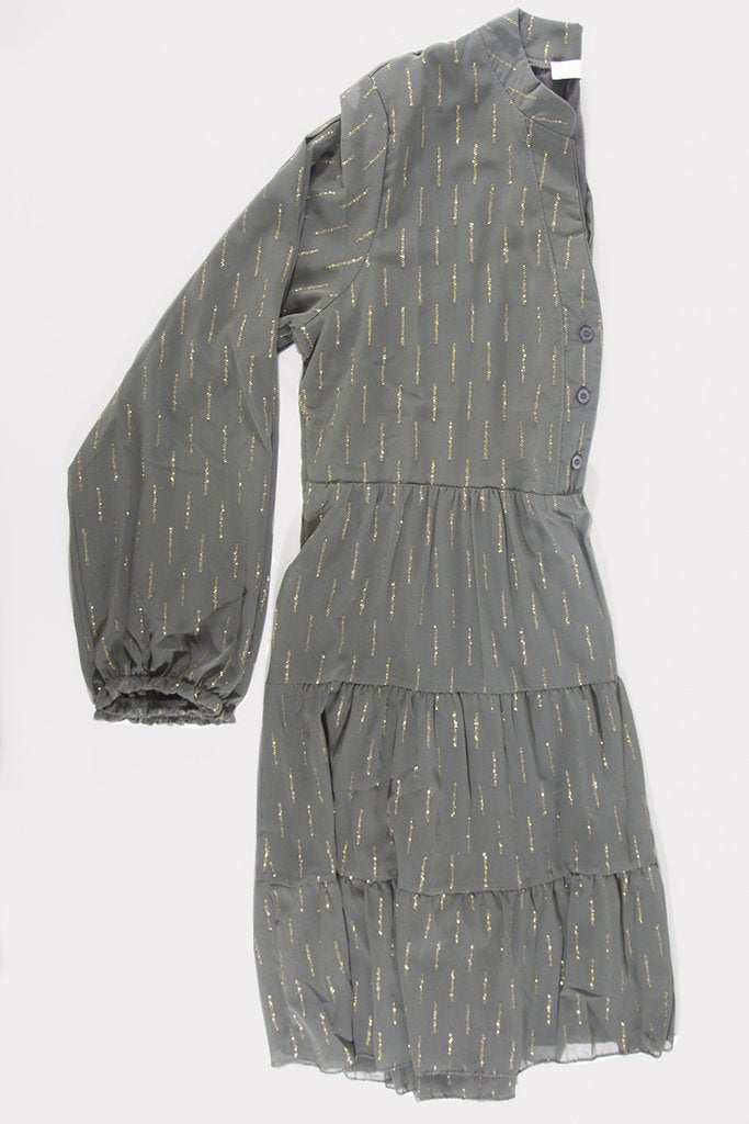 Glitter Matchstick Dress Grey