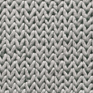 Modern cable rug in grey