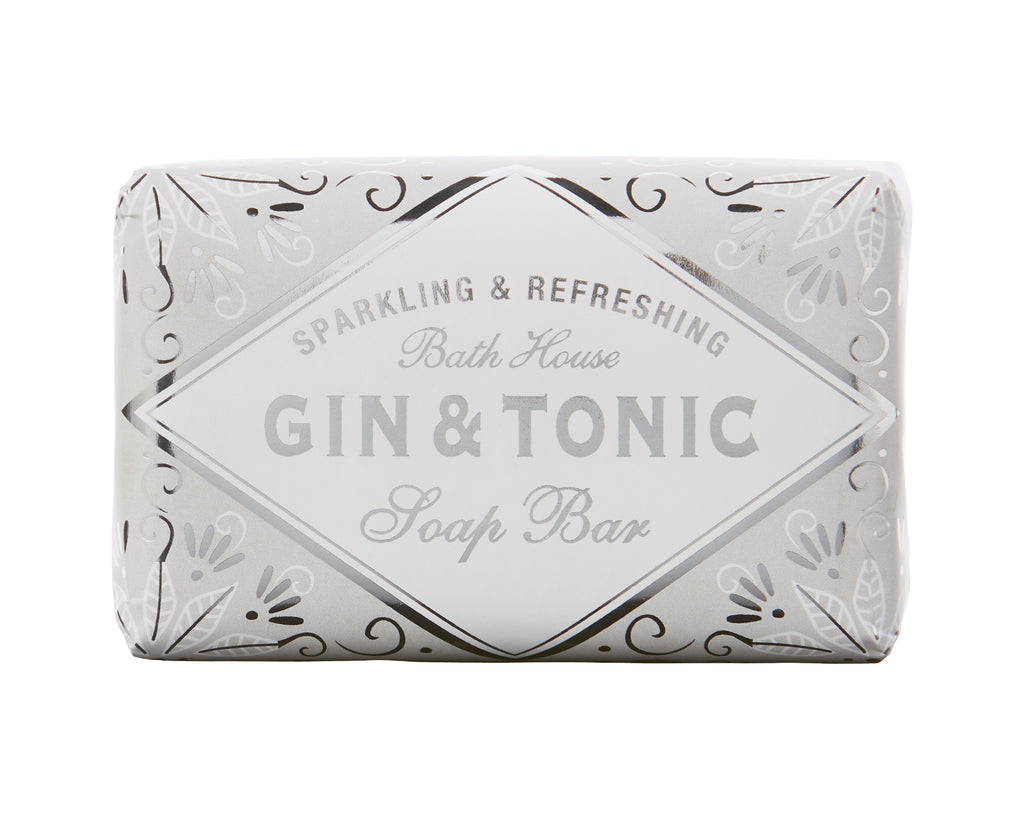 Cocktail scented soap in a silver and white wrapper