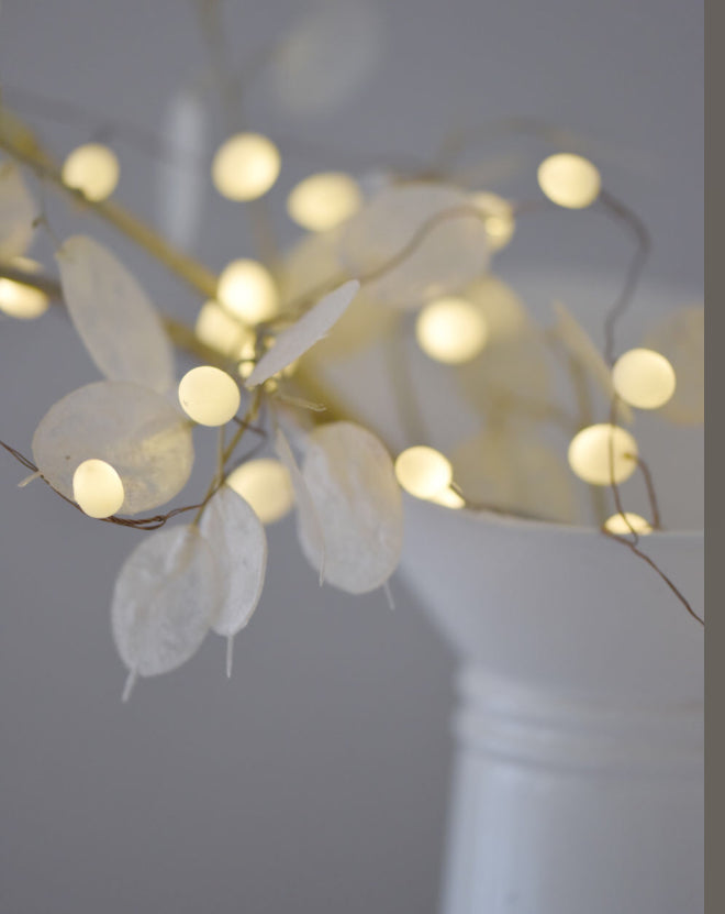 Opaque Teardrop Fairy Lights, Battery Operated, Timer Function