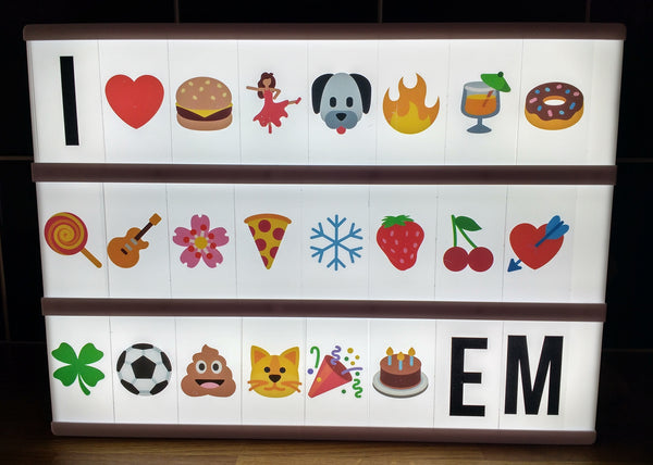 A4 Light Box Emoji's