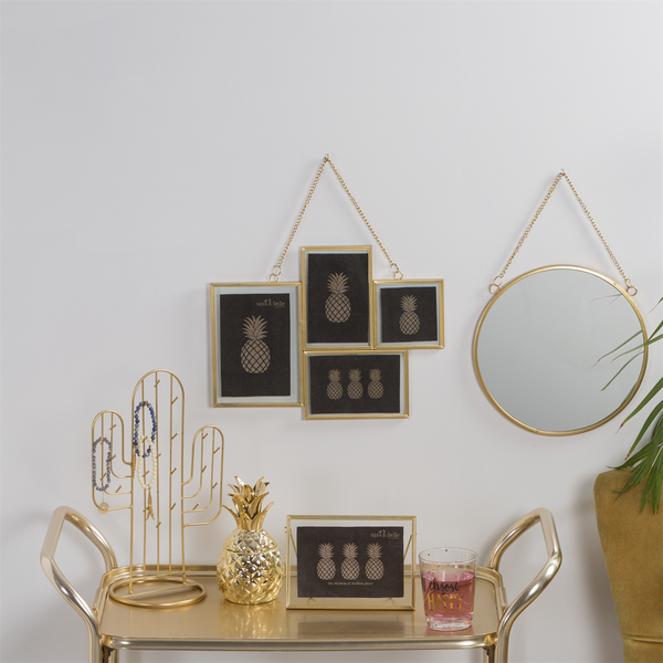 Gold Cactus Jewellery Stand