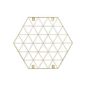 Gold colour honeycomb shaped photo memo holder