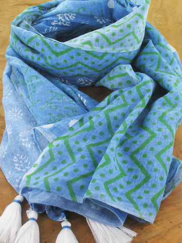 Hand Block Printed Scarf