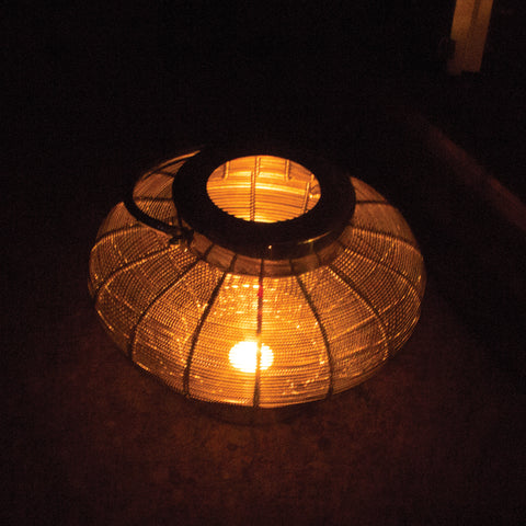Wire Mesh Candle Lantern With Metal Handle