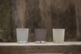 Tealight Holders - Dark, Mid Or Light Grey