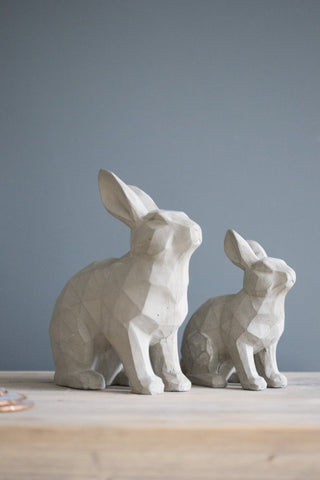 Grey Resin Rabbit, Large Or Small
